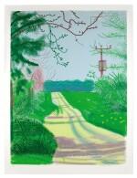 DAVID HOCKNEY | THE ARRIVAL OF SPRING IN WOLDGATE, EAST YORKSHIRE IN 2011 - 23 APRIL 2011