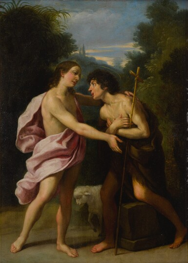 View 2. Thumbnail of Lot 42. The Meeting of Christ and Saint John the Baptist.