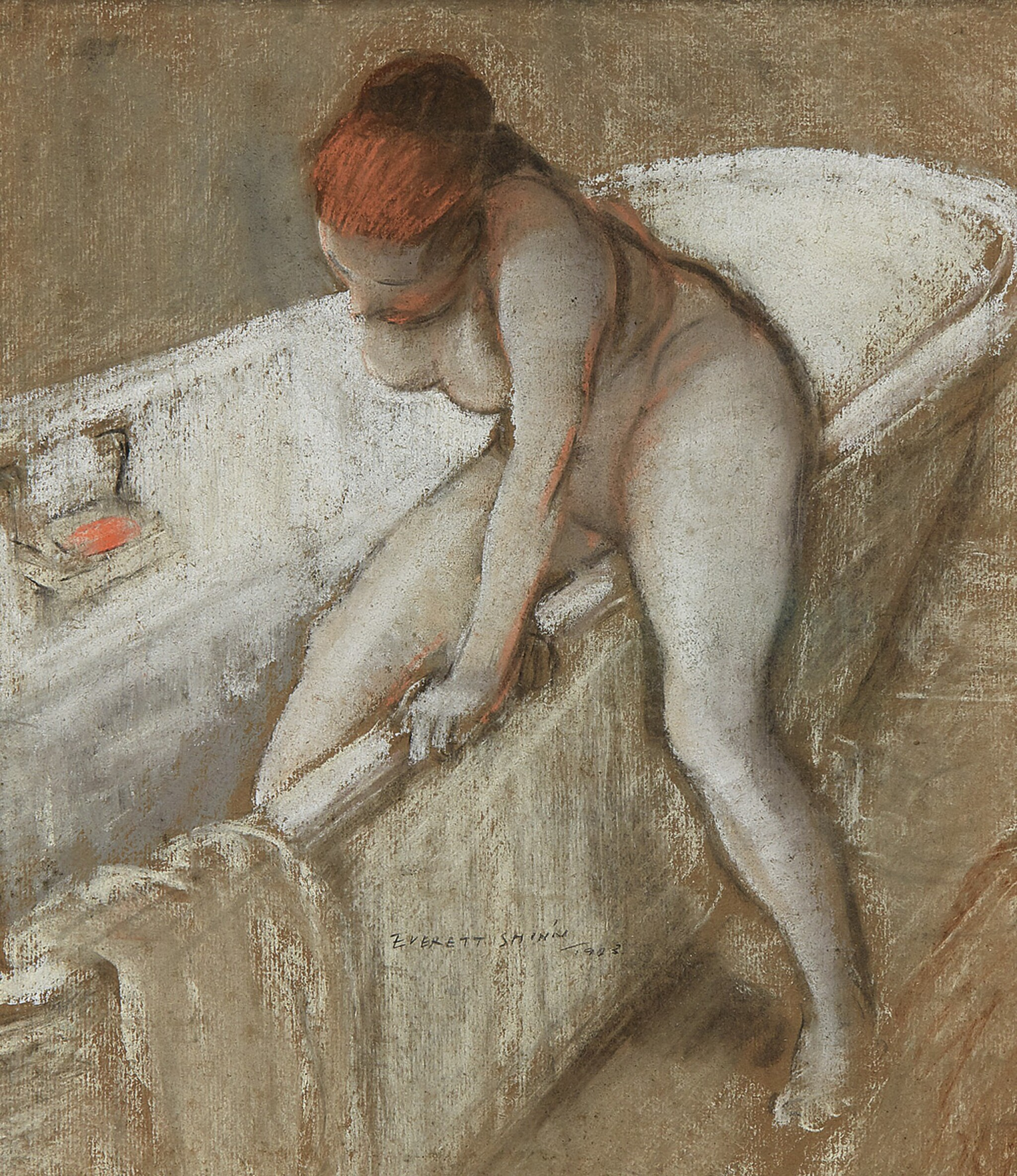 View 1 of Lot 15. Girl in Bathtub.