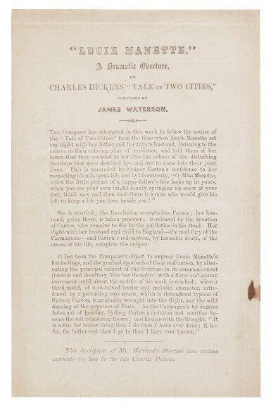 Dickens, A Tale of Two Cities, 1859, first edition in the original 7/8 monthly parts