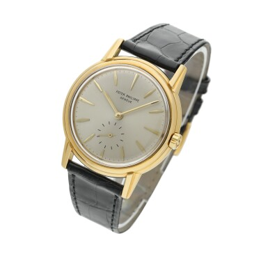 View 2. Thumbnail of Lot 230. Reference 3444  A yellow gold automatic wristwatch, Circa 1961 .