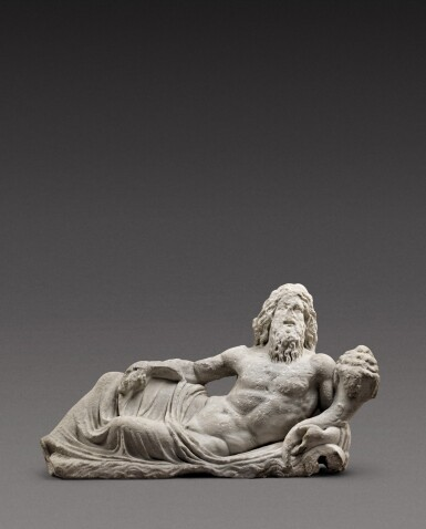 View 1. Thumbnail of Lot 68. A Roman Marble Fountain Figure of a River God, circa 2nd Century A.D..
