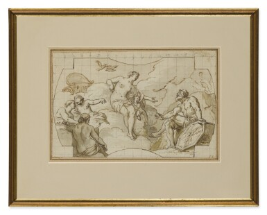 View 2. Thumbnail of Lot 551. GIUSEPPE VALERIANI | VENUS ASKS VULCAN TO FORGE ARMS FOR AENEAS.