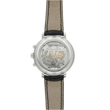 View 6. Thumbnail of Lot 368. Reference 25909BC Jules Audemars  A white gold tourbillon chronograph wristwatch, Circa 2000 .