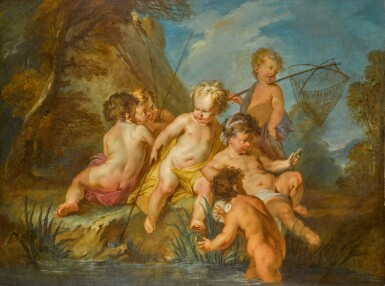 View 1. Thumbnail of Lot 185. 'Les Amours Pecheurs' (The Love of Fishing).