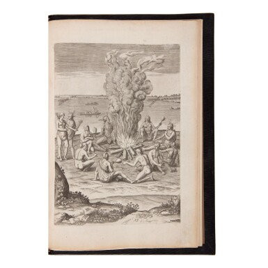 View 3. Thumbnail of Lot 132. De Bry, Theodor, and Johann Theodor and Johann Israel de Bry   A magnificent set of the Great American Voyages in Latin.