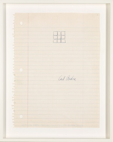 View 2. Thumbnail of Lot 11. CARL ANDRE | UNTITLED.
