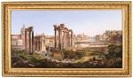 A LARGE SCALE ITALIAN MICROMOSAIC PANEL OF THE ROMAN FORUM, ROME CIRCA 1850-75, BY LUIGI A. GALLANDT