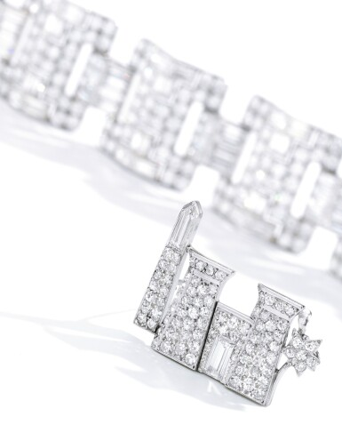 View 2. Thumbnail of Lot 12. CARTIER | DIAMOND BROOCH.