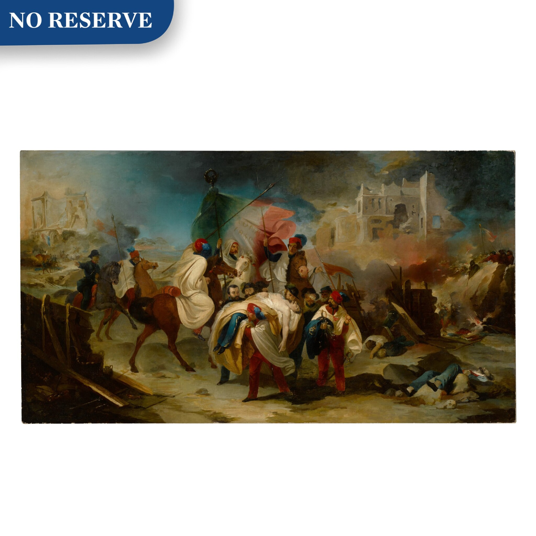 View full screen - View 1 of Lot 125. The death of Luciano Manara, 6 June 1849.