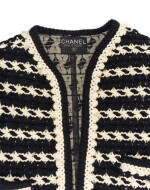 BLACK AND WHITE KNITTED JACKET, CHANEL