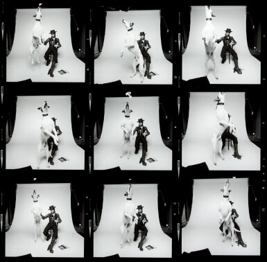 View 1. Thumbnail of Lot 214. TERRY O'NEILL |  DAVID BOWIE, DIAMOND DOGS, CONTACT SHEET, 1974.