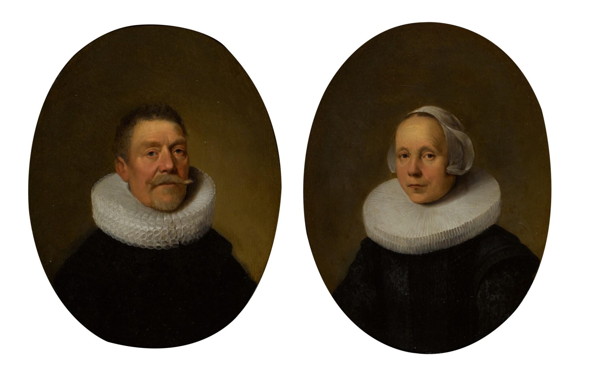 View full screen - View 1 of Lot 1. DIRCK VAN DER LISSE | Portrait of a gentleman; and Portrait of a lady.
