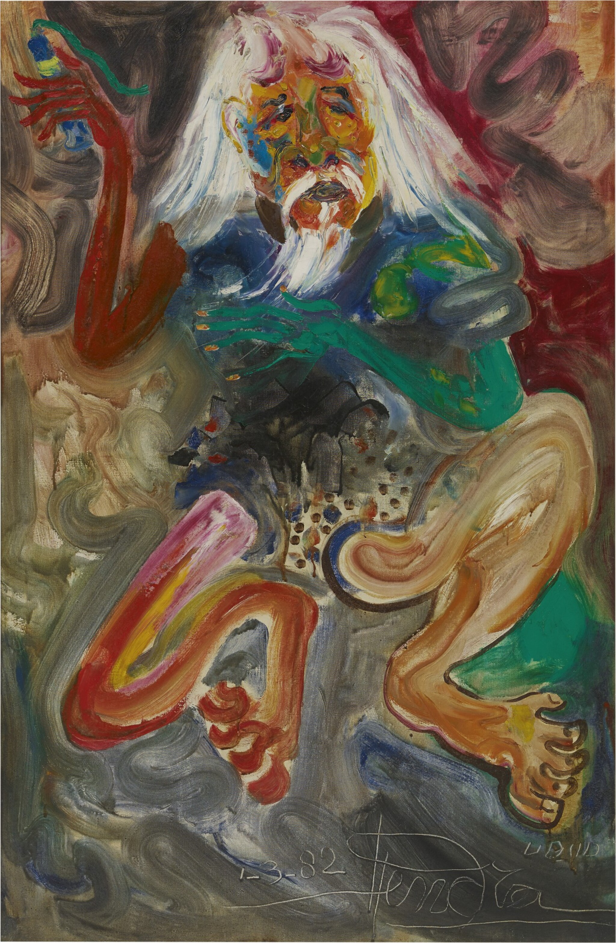 View full screen - View 1 of Lot 300. HENDRA GUNAWAN 亨德拉·古拿溫 | PORTRAIT OF AFFANDI 阿凡迪的肖像.