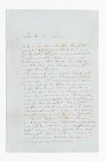 WAGNER. Lettre autographe signée, en allemand, au chef d'orchestre Rudolf Schöneck