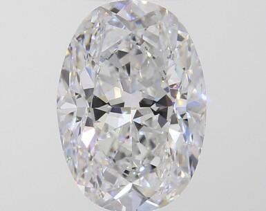 A 4.02 Carat Oval-Shaped Diamond, D Color, VVS1 Clarity