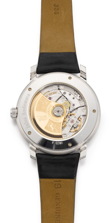 View 3. Thumbnail of Lot 43. AUDEMARS PIGUET | JULES AUDEMARS, REFERENCE 15120BC.OO.A002CR.02, WHITE GOLD WRISTWATCH WITH DATE, CIRCA 2000 .