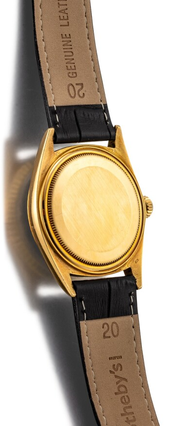 View 3. Thumbnail of Lot 111. ROLEX | DATEJUST, REFERENCE 1601 A YELLOW GOLD WRISTWATCH WITH DATE, CIRCA 1964.
