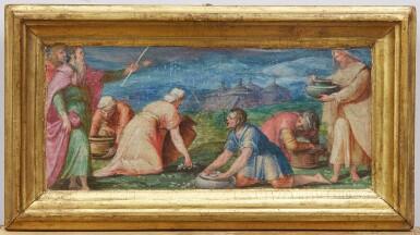 View 4. Thumbnail of Lot 129. GIOVANNI BATTISTA NALDINI  |  MANNA FROM HEAVEN; THE STONING OF ST. STEPHEN.