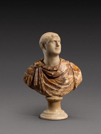 View 1. Thumbnail of Lot 159. Italian, 18th century | Bust of an Emperor.