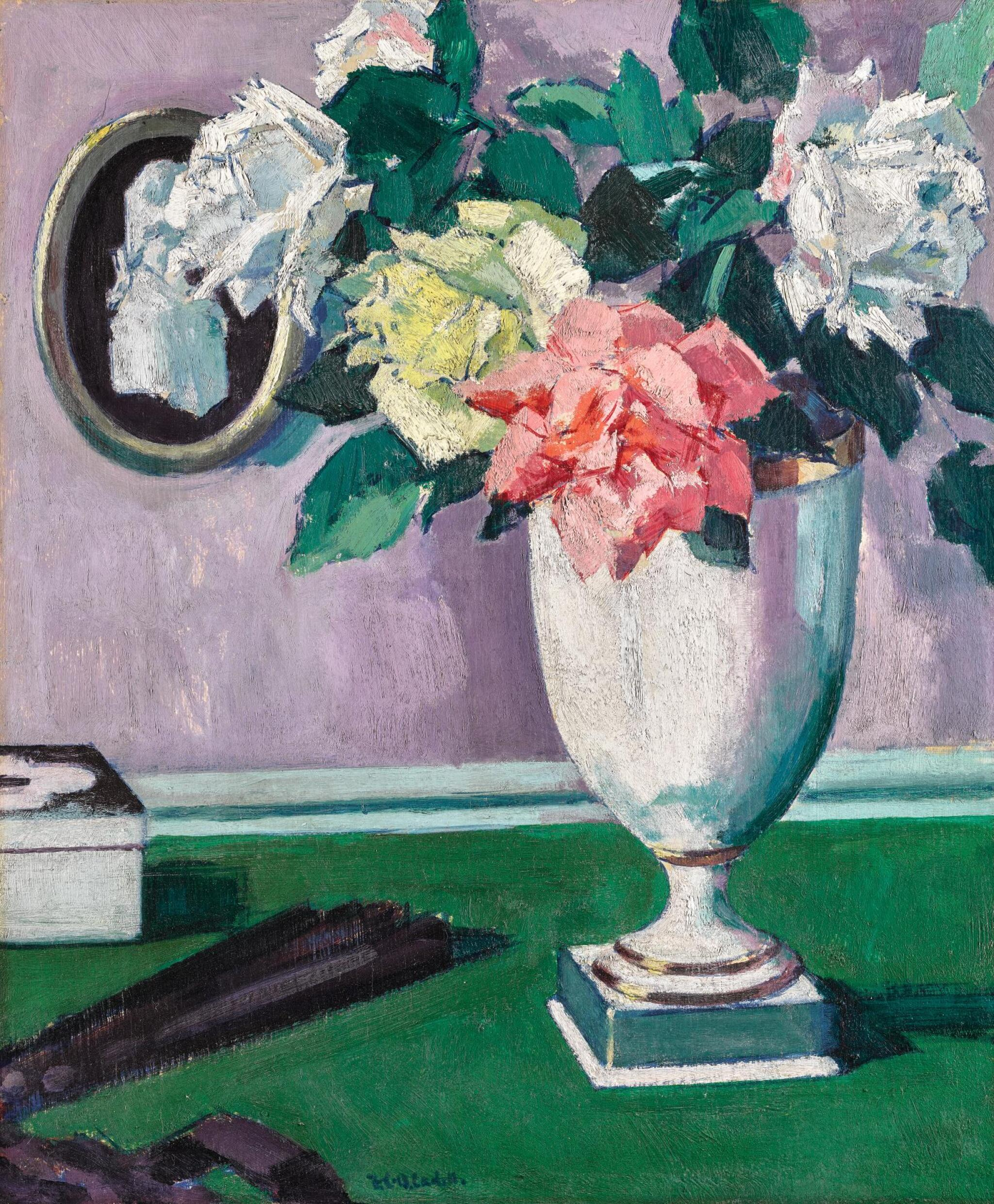 View full screen - View 1 of Lot 50. FRANCIS CAMPBELL BOILEAU CADELL, R.S.A., R.S.W. | ROSES.