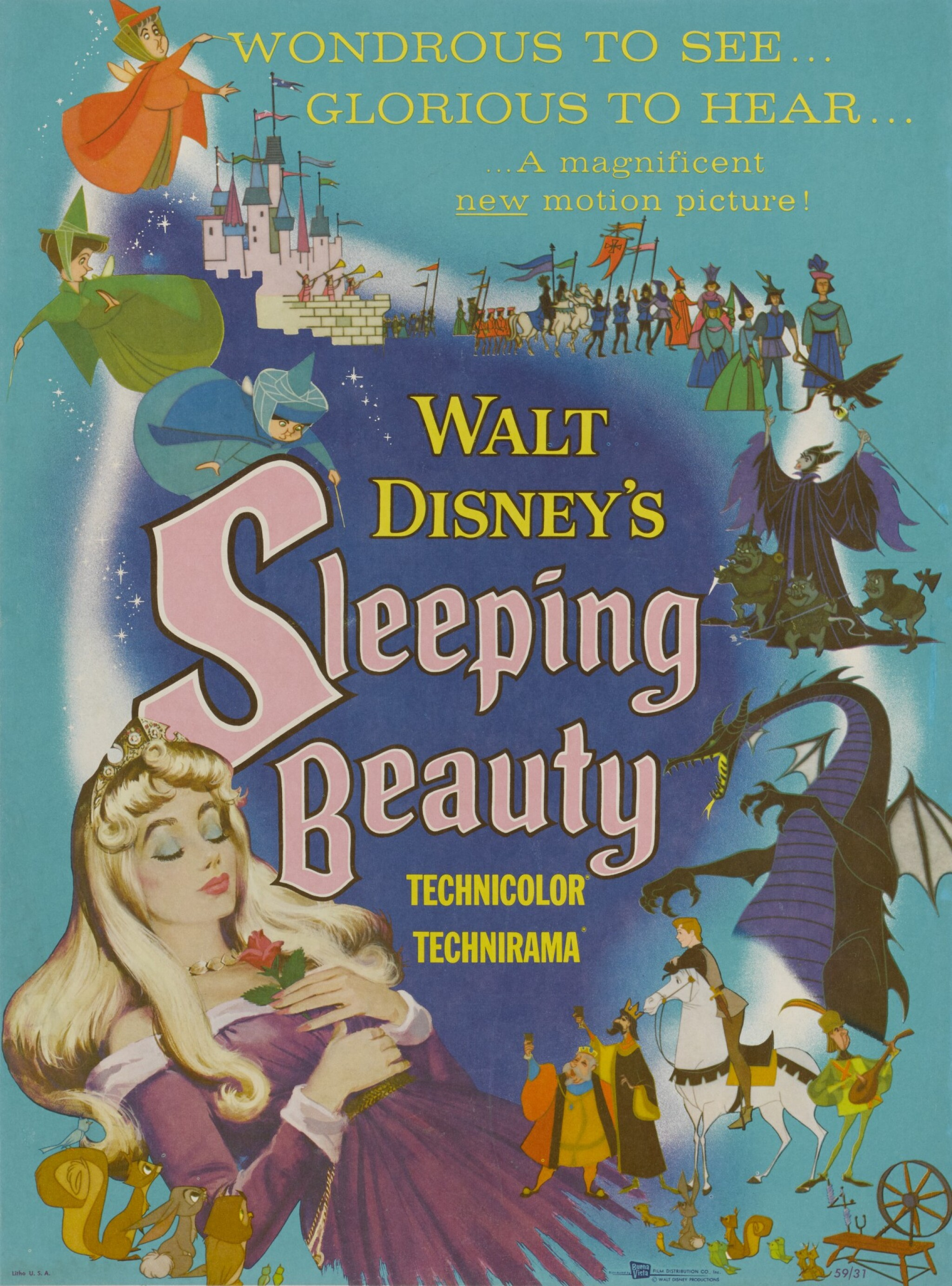 View full screen - View 1 of Lot 11. SLEEPING BEAUTY (1959) POSTER, US.