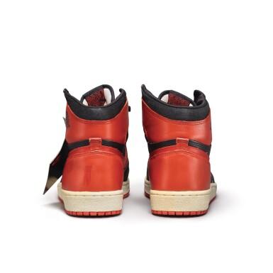 View 9. Thumbnail of Lot 7.  Peter Moore | 'Bred' Nike Air Jordan 1 High OG (1985) | Size 11.5.