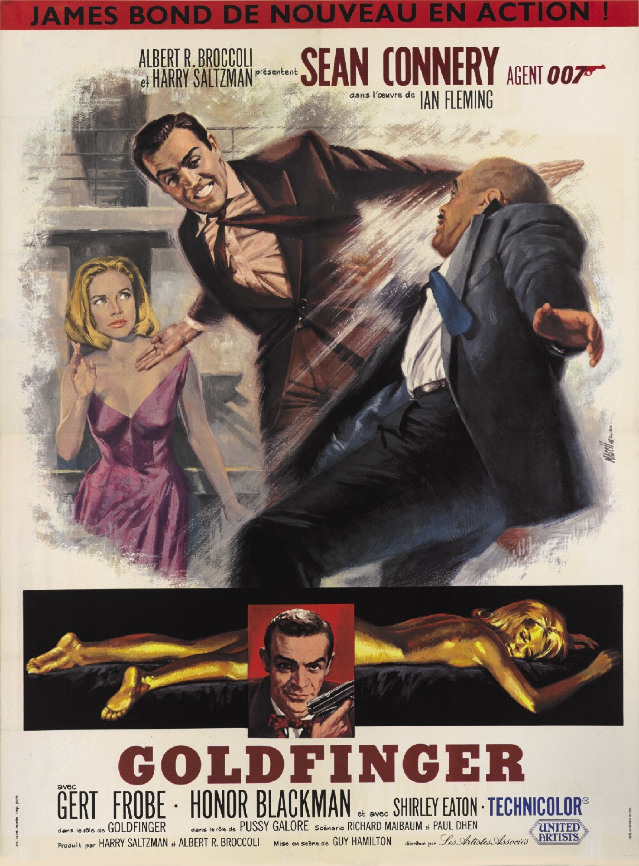 View 1 of Lot 40. GOLDFINGER (1964) POSTER, FRENCH  .