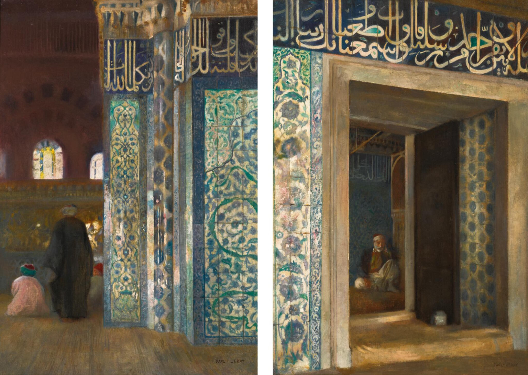 View full screen - View 1 of Lot 11. PAUL LEROY | THE RÜSTEM PASHA MOSQUE IN CONSTANTINOPLE: A PAIR.