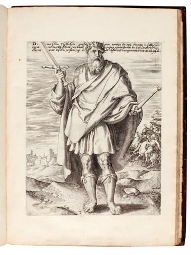 View 3. Thumbnail of Lot 114. Galle, Septem opera misericordiae spiritualia, Antwerp, 1577, later English calf.