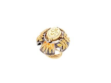View 5. Thumbnail of Lot 5. Elie Top, Yellow Sapphire, Garnet and Diamond Ring [Bague Diamants, Grenat Mandarine et Saphirs Jaunes], 'Feu D'été'.