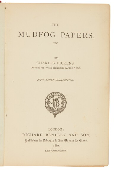 Dickens, The Mudfog Papers, 1880, first collected edition