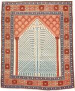 A RARE BAKSHAISH NICHE RUG, NORTHWEST PERSIA