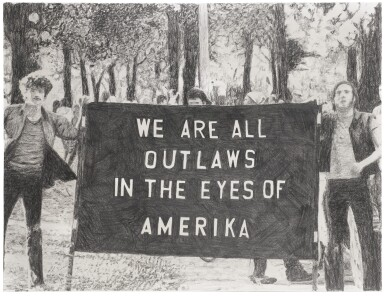 View 1. Thumbnail of Lot 49. We Are All Outlaws in the Eyes of Amerika.
