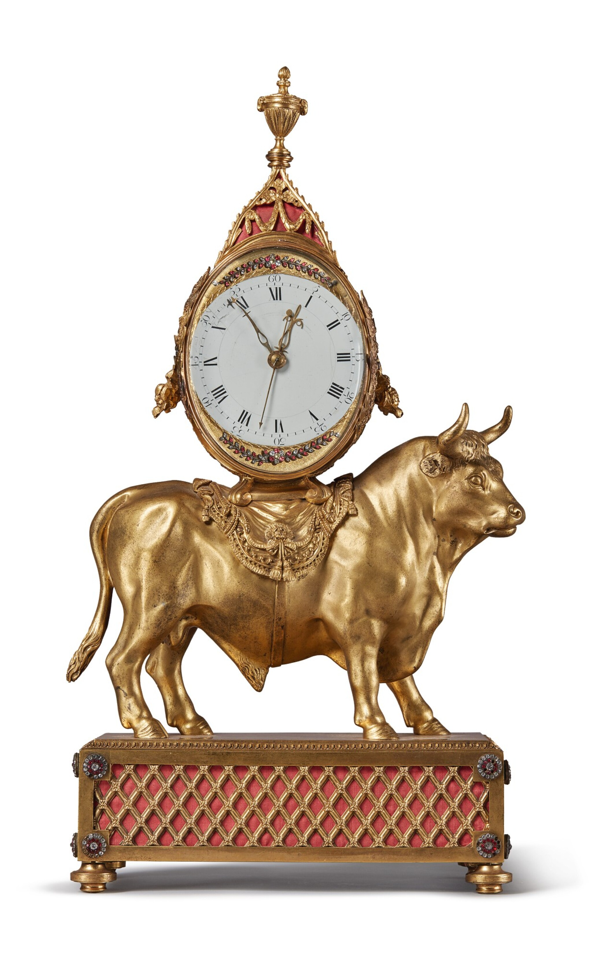 View full screen - View 1 of Lot 137. AN ENGLISH GEORGE III GILT BRONZE MANTLE CLOCK BY TIMOTHY WILLIAMSON, LONDON, MADE FOR THE CHINESE MARKET, CIRCA 1780.