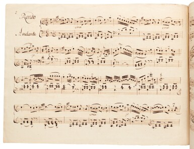 W. A. Mozart. Scribal manuscript of the Rondo in A minor, K.511, late C18th-early C19th