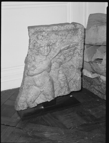 View 3. Thumbnail of Lot 81. A Roman Red Marble Double-sided Relief with Erotes, late 2nd/3rd Century A.D..