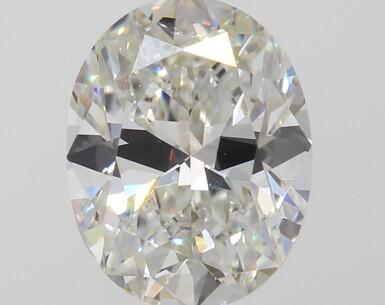 A 1.06 Carat Oval-Shaped Diamond, I Color, VS1 Clarity