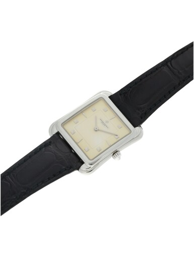 View 6. Thumbnail of Lot 53. REFERENCE 31100 TOLEDO A PLATINUM SQUARE SHAPED WRISTWATCH, CIRCA 1993.