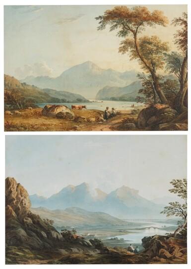 JOHN VARLEY | Two views in North Wales: Mount Snowdon and Cadair Idris