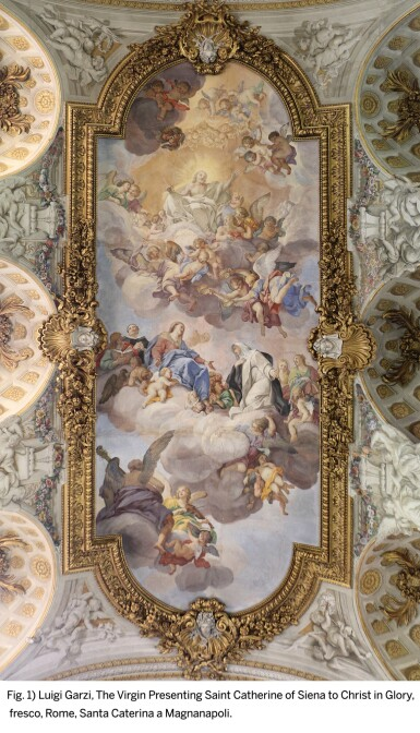 View 5. Thumbnail of Lot 142. LUIGI GARZI | THE VIRGIN PRESENTING SAINT CATHERINE OF SIENA TO CHRIST IN GLORY.