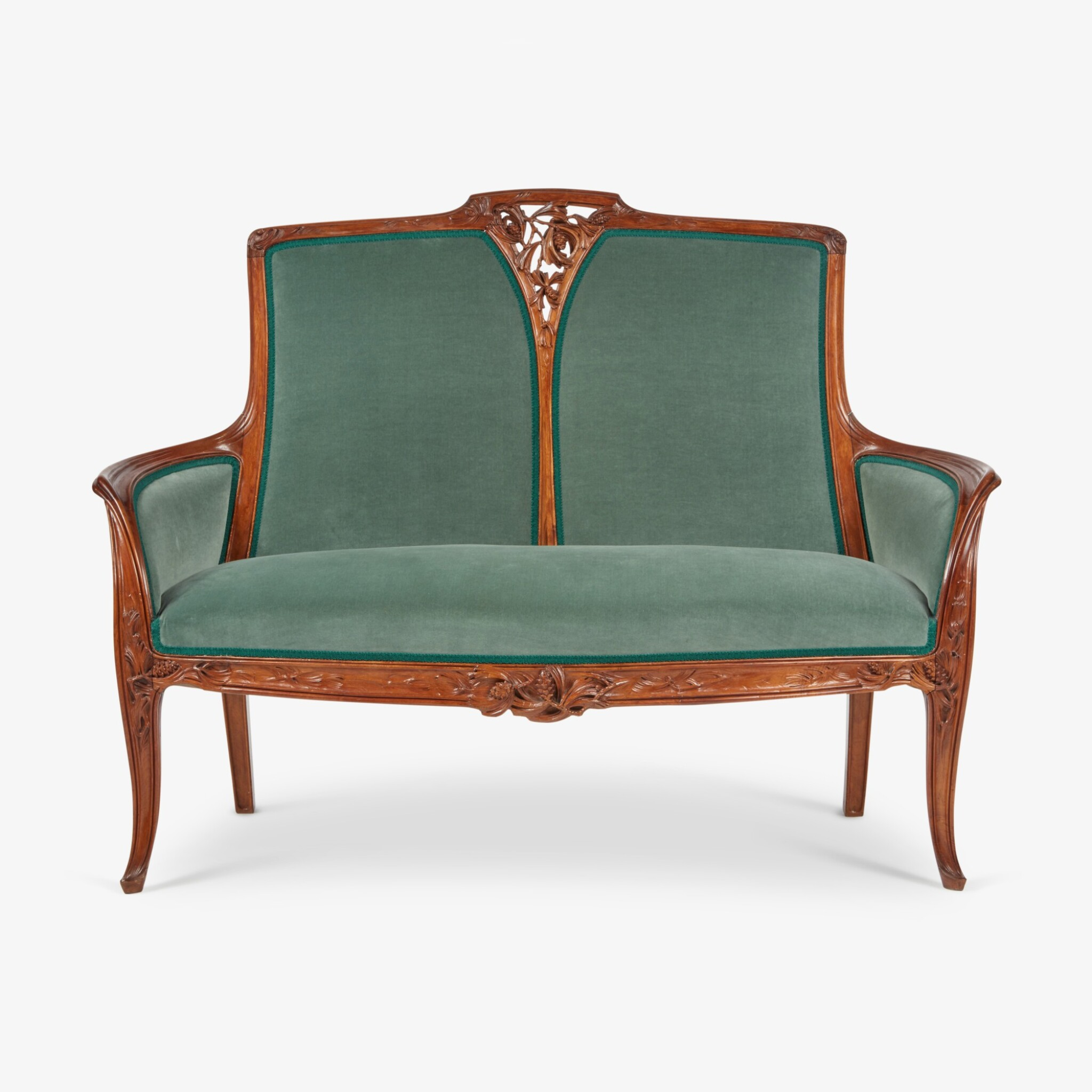 """View full screen - View 1 of Lot 20. """"Pommes de Pin"""" Settee."""