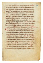 Leaf from a noted Ferial Psalter and Hymnal, manuscript on vellum [Italy, 12th century]