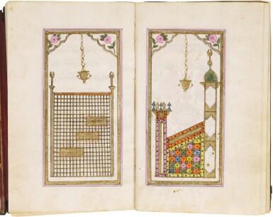 AN ILLUMINATED COLLECTION OF PRAYERS, INCLUDING DALA'IL AL-KHAYRAT, COPIED BY MEHMED KHULUSI IBN AHMED B. MEHMED, STUDENT OF IMAMZADE 'ABD AL-RAHIM EFENDI, TURKEY, OTTOMAN, DATED 1213 AH/1798-99 AD