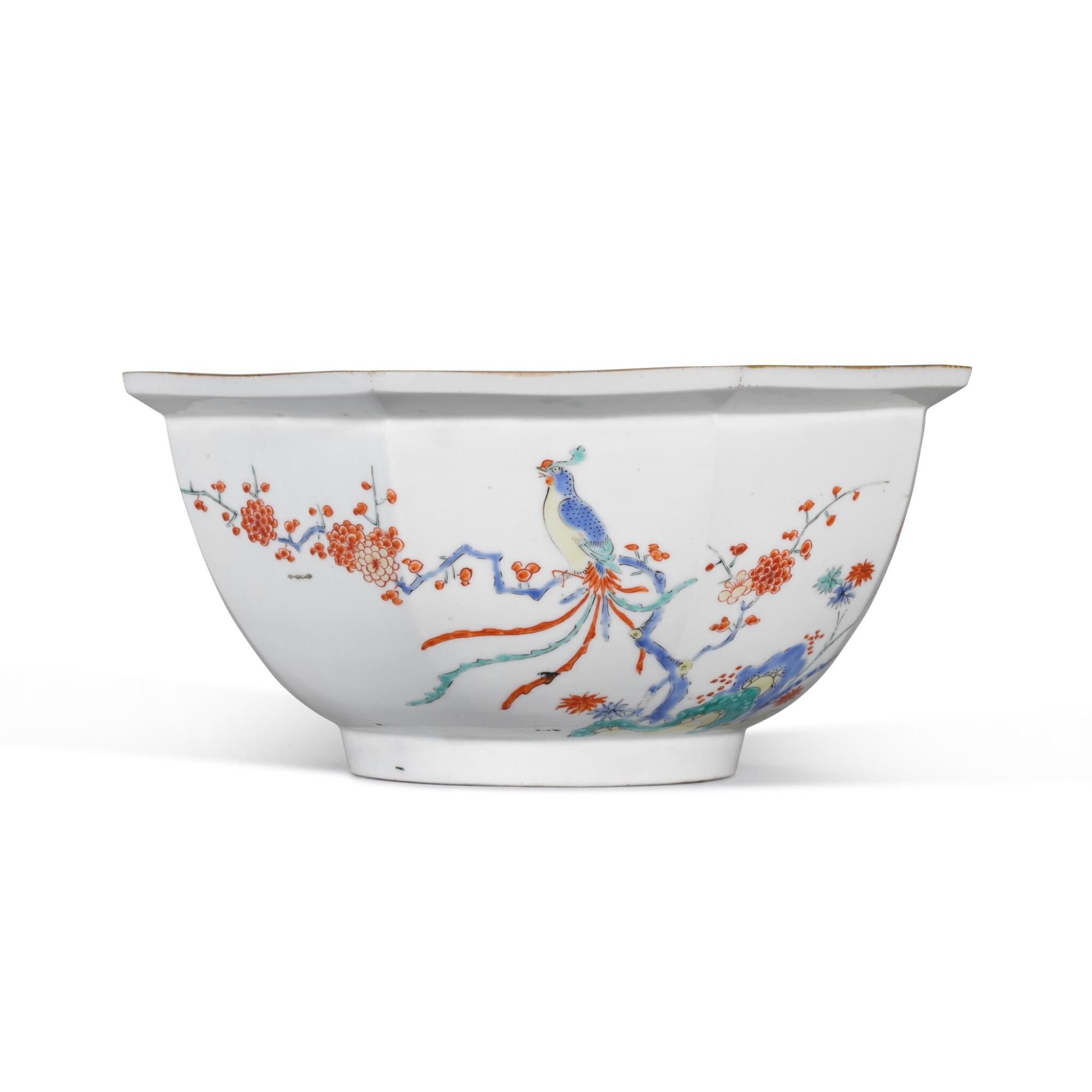 View full screen - View 1 of Lot 142. A Kakiemon porcelain octagonal bowl, Edo period, 17th century.