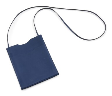 Blue leather shoulder bag, Onimateau, Hermès, 2011