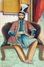 A PORTRAIT OF NASIR AL-DIN SHAH QAJAR (R.1848-96), PERSIA, QAJAR, SECOND HALF 19TH CENTURY