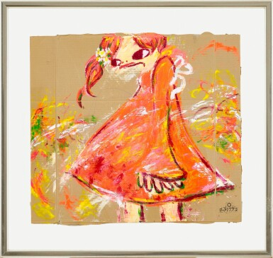 View 2. Thumbnail of Lot 44. Girl in Red Dress   紅裙子女孩.