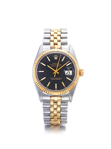 ROLEX | REF 1601, A STAINLESS STEEL AND YELLOW GOLD AUTOMATIC CENTER SECONDS WRISTWATCH WITH DATE AND BRACELET CIRCA 1963