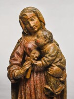 FRENCH, PROBABLY BURGUNDY, FIRST HALF 15TH CENTURY | VIRGIN AND CHILD